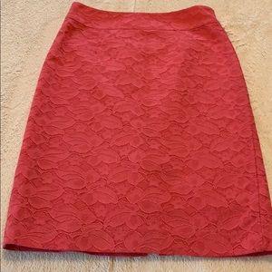 Cute retro looking coral Banana Republic skirt